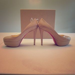 Christian Louboutin Bianca 120mm Nude Pumps